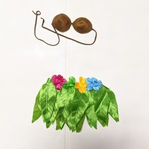 BUILD A BEAR LUAU OUTFIT WITH FLOWERS FOR EARS